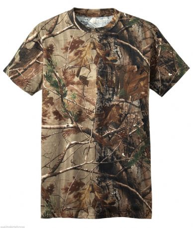 "REALTREE APG 2XL 50"" Camo T-shirt Short Sleeve Pigeon Shooting Decoying Fishing"